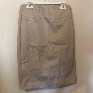 Express Khaki Business Skirt
